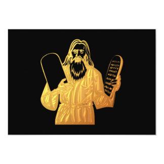 Moses - 10 Commandments - Greatest Commandment 5x7 Paper Invitation Card