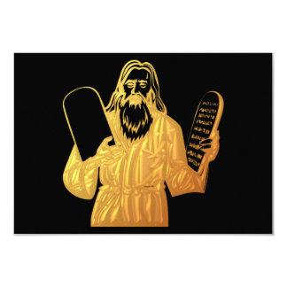 Moses - 10 Commandments - Greatest Commandment 3.5x5 Paper Invitation Card
