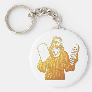 Moses - 10 Commandments - Greatest Commandment Keychain