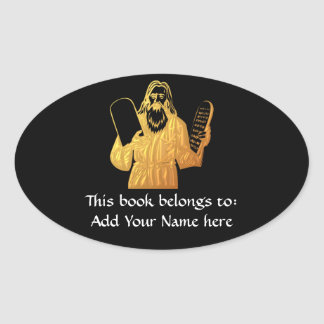 Moses - 10 Commandments - Greatest Commandment Oval Sticker