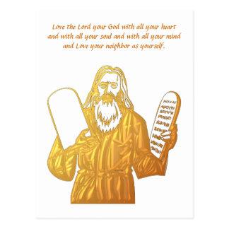 Moses - 10 Commandments - Greatest Commandment Postcard