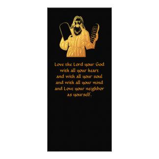 Moses - 10 Commandments - Greatest Commandment Rack Card