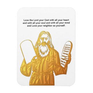 Moses - 10 Commandments - Greatest Commandment Rectangular Photo Magnet