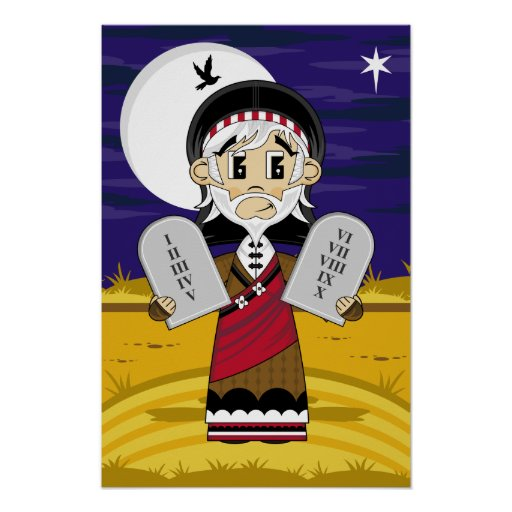 Moses & 10 Commandments Poster