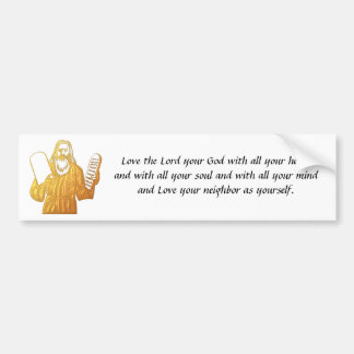 Moses - 10 mandamientos - el mandamiento más grand etiqueta de parachoque