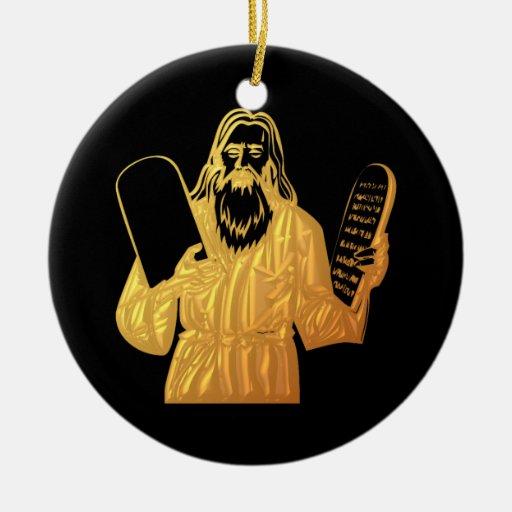 Moses - 10 mandamientos - el mandamiento más grand adorno de navidad