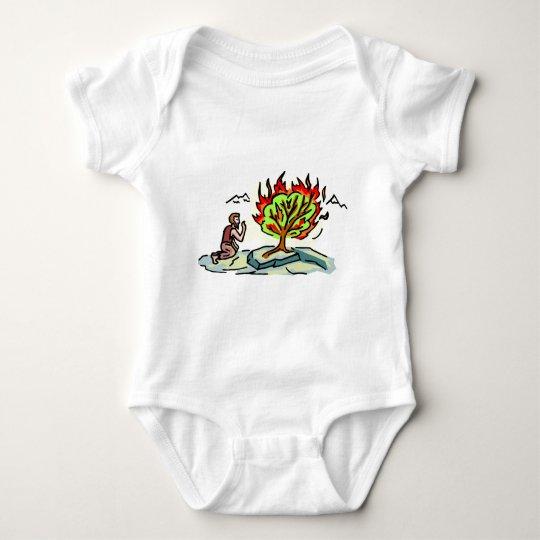 Moses and burning bush Christian artwork Baby Bodysuit