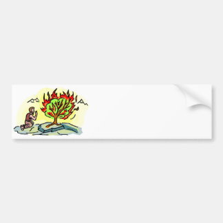 Moses and burning bush Christian artwork Bumper Sticker