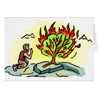 Moses and burning bush Christian artwork Card