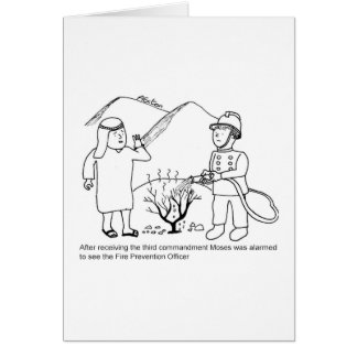 Moses and Fire Prevention Officer Greeting Card
