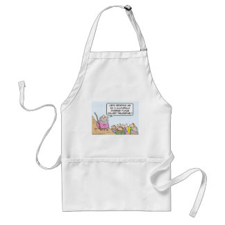 Moses and multiculturalism adult apron