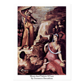 Moses And Tablets Of Law By Domenico Beccafumi Postcard