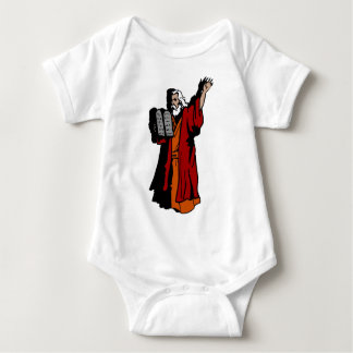 Moses and ten commandments baby bodysuit