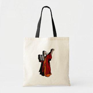 Moses and ten commandments canvas bag