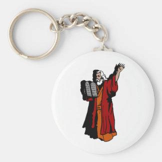 Moses and ten commandments key chains
