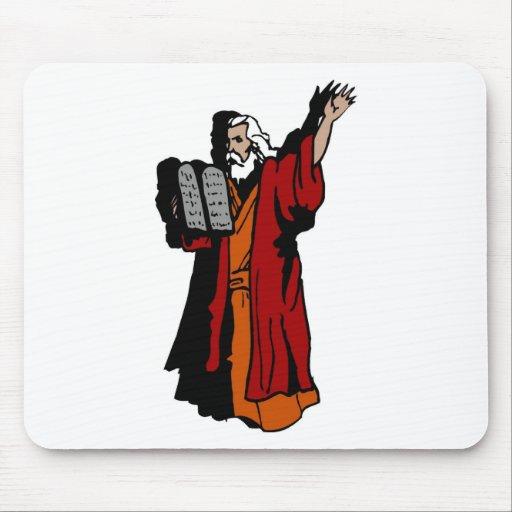 Moses and ten commandments mouse pad