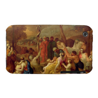 Moses and the Brazen Serpent, c.1653-54 (oil on ca iPhone 3 Cover