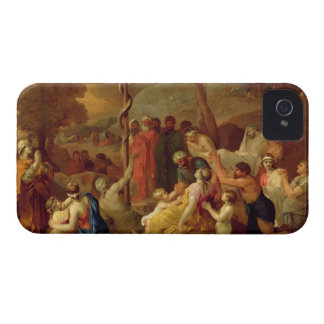 Moses and the Brazen Serpent, c.1653-54 (oil on ca iPhone 4 Cover