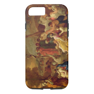 Moses and the Brazen Serpent, c.1653-54 (oil on ca iPhone 7 Case