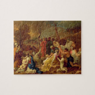 Moses and the Brazen Serpent, c.1653-54 (oil on ca Jigsaw Puzzle