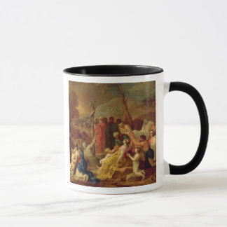Moses and the Brazen Serpent, c.1653-54 (oil on ca Mug