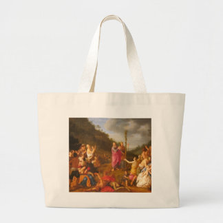 Moses and the Brazen Serpent Large Tote Bag