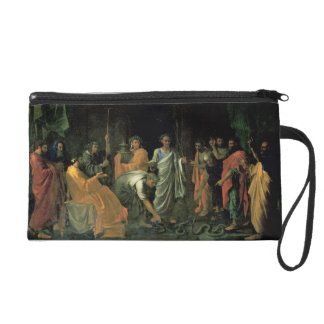 Moses and the Brazen Serpent (oil on canvas) Wristlet Purses