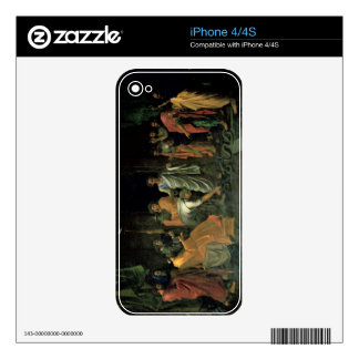 Moses and the Brazen Serpent (oil on canvas) iPhone 4S Skins