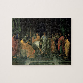 Moses and the Brazen Serpent (oil on canvas) Jigsaw Puzzle