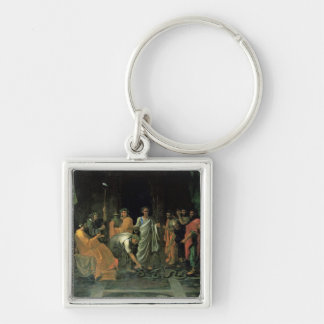 Moses and the Brazen Serpent (oil on canvas) Keychain