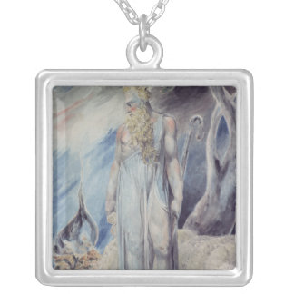 Moses and the Burning Bush Square Pendant Necklace