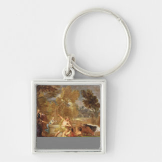 Moses and the Daughters of Jethro Keychain