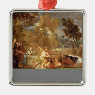 Moses and the Daughters of Jethro Metal Ornament