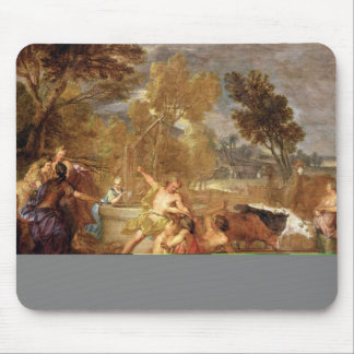 Moses and the Daughters of Jethro Mouse Pad