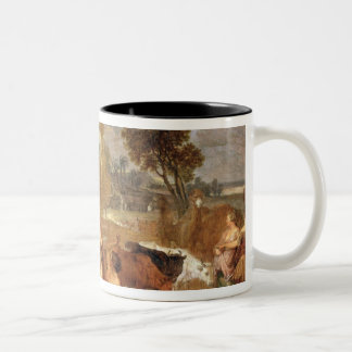 Moses and the Daughters of Jethro Two-Tone Coffee Mug