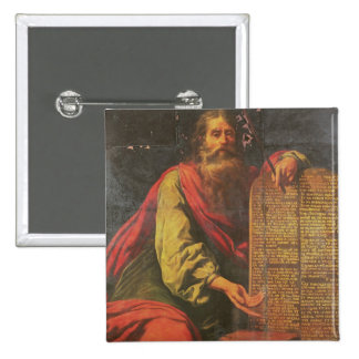 Moses and the Tablets of the Law Button