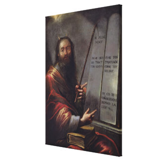 Moses and the Tablets of the Law Canvas Print