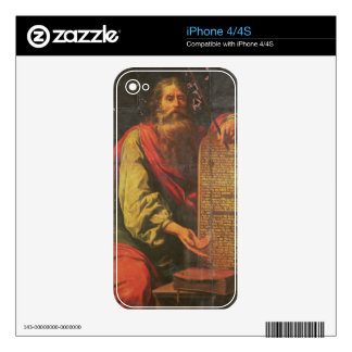 Moses and the Tablets of the Law Decals For iPhone 4S