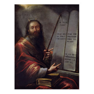 Moses and the Tablets of the Law Postcard