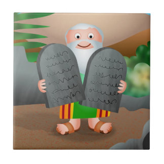 Moses and The Ten Commandments Bible Story Tile