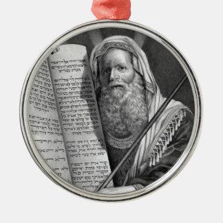 Moses and the Ten Commandments Metal Ornament
