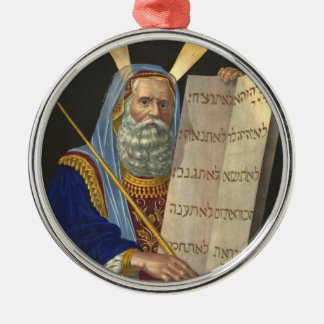 Moses and the Ten Commandments Metal Ornament