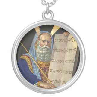 """Moses and the Ten Commandments"" necklace"