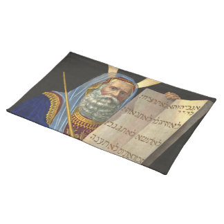 """""""Moses and the Ten Commandments"""" placemat Cloth Placemat"""