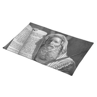 """Moses and the Ten Commandments"" placemat Cloth Place Mat"