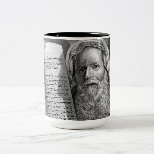 Moses and the Ten Commandments Two-Tone Coffee Mug