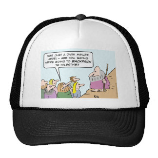 moses backpack palestine bible hat