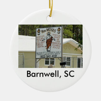 moses, Barnwell. SC Double-Sided Ceramic Round Christmas Ornament