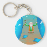 Moses Basic Round Button Keychain