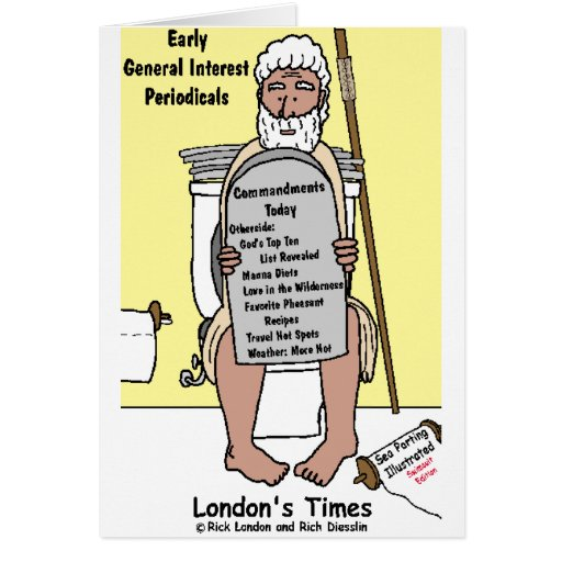 Moses' Bathroom Reading Funny Gifts & Tees Card